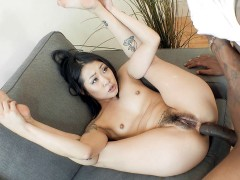 Saya Song got her ass drilled by the black monster cock
