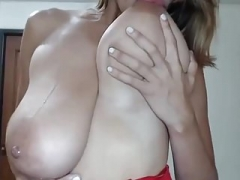 Sizeable Gross NATURAL  LATINA Boobs COMPILATION