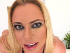 Dirty talk and a hot cock sucking from sexy Briana Banks