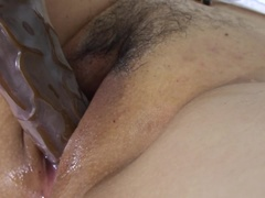 Mature Luisa loves playing alone