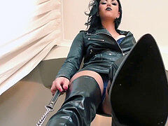 Leather Jacket and boots punk JOI