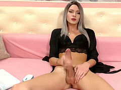 BIG prick transgender princess, Exhibition ALONE, MARILYN immense AND BIG COCK MATURBATION