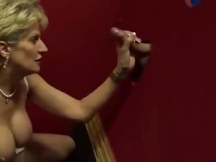 Dame Sonia blow off at gloryhole