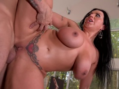Busty Babe's Cravings: Rock-Hard Cock Fucks Voluminous Tits!