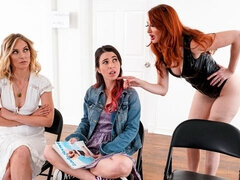 Awesome Lesbian action with Kendra James, Serena Blair and Mona Wales
