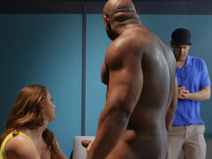 Coach's hot wife Chanel Preston prepares star athlete before the big game