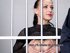 LAW4k. Real fuckslut Nicole enjoy gets in jail for her job but