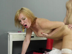 Mature Silvia craves young cock
