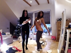 Transparent Leggings Hole and furthermore the Tiniest Thongs House Party