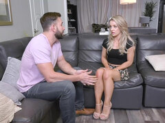Blonde Kate Kennedys has sex with stepdad and uncle