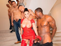 Swarmed By 13 Guys Angela White Does Her Biggest Blowbang Ever