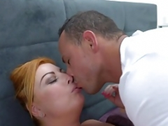 Curvy aged female enjoys totally hardcore make love