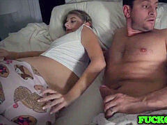 kinky Stepdaughter Fuck New dad Next to Sleeping mommy
