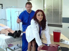 Red haired doctor got her ass fucked