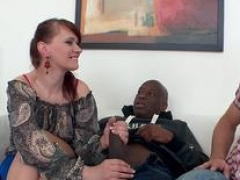 Husband Helplessly Watches His Aged Wife Vera Bliss Fuck a Black Man