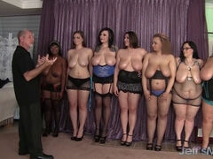 8 sexy plumpers get fucked at the chubby party