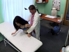 Doctor gets down and dirty bent over sexy patient