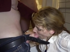 Hot wife Nicole gives bj off dozens of cocks and moreover she loves it