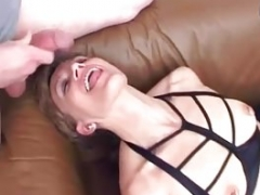 German Old Eats Cum Before Anal