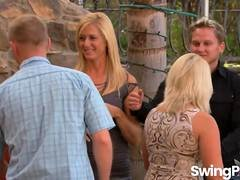 Hot group fucking party with kinky swingers in a reality