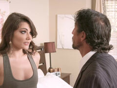 Wealthy business catches poor girl Adria Rae stealing his money