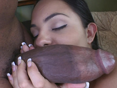 Monster knob stretching that lustful Latina fuck hole wide open
