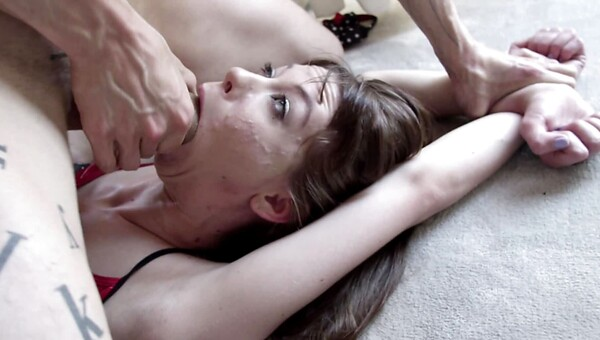 A slut with pale skin is getting cumshot and fucked anally