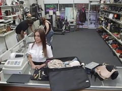 Getting down and dirty a hot stewardess in the pawn shop - XXX Pawn