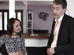 Step-Daddy gives Large Cock Punishment to Holly Hendrix!