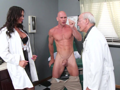 A hot doctor gets down and dirty her patient in the revision room this day