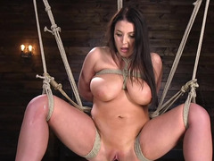 Gorgeous pornstar dominated by master with vibrator and not only