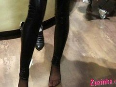 Hot leather pants