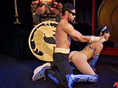 johnny cage fucks aria alexander as kitana doggystyle