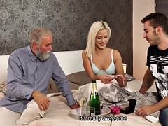 daddy4k. amazing dad and young girl sex ended with cumshot