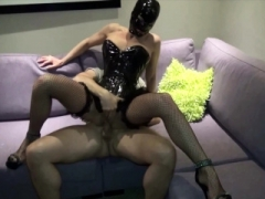 GERMAN LATEX 18-19 y.o. IN CORSAGE get rough Deepthroat and Rectal