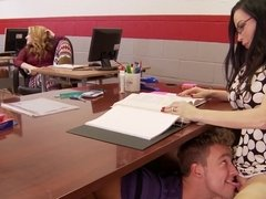 Student eats & shoves his dick up his teacher's cunt Diamond Foxx