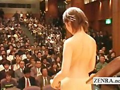 Japanese stark undressed orchestra starts with striptease