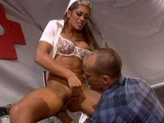 Lustful squirting nurse