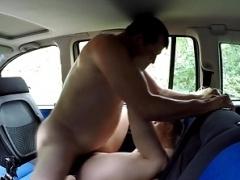 Good-looking Blonde Teenage Gets Drivers Lesson