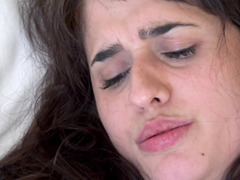 Spanish chick plays with herself in front of partner before fuck