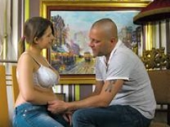 Boobalicious virgin Aza Puzo stripped and also fucked