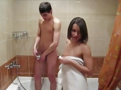 18 Videoz - Teen cuties have an intercourse in a bathroom