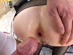 young butt of gia love is is fucked balls deep doggystyle