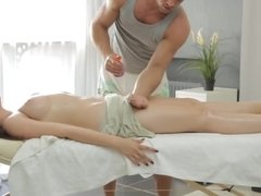 Sexy and pale Marina Visconti wants more than a simple massage.