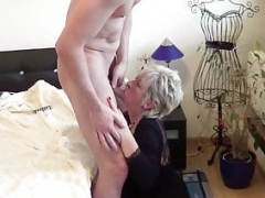 GERMAN STEP SON CAUGHT MOTHER wank and help with Make love