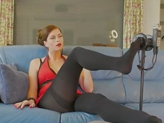 ASMR experience for pantyhose and additionally high heels lovers