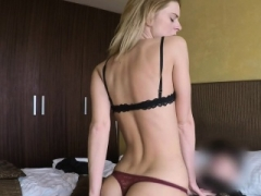 Blonde Sexually available mom in thongs rides fake cop