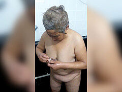 chinese grandmother in the bathtub