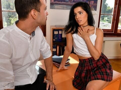 Principal Kai Taylor is not impressed by his student Anainda's behavior so he calls her into his office
