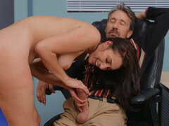 Sexy new teacher Bella Rolland can't resist the charms of an older gentleman